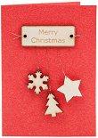 Поздравителна картичка - Весела Коледа -
