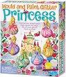 """Направи сама гипсови магнити - Блестящи принцеси - Творчески комплект от серията """"Mould & Paint"""" -"""
