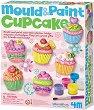 """Направи сама гипсови магнити - Къпкейкове - Творчески комплект от серията """"Mould & Paint"""" -"""