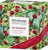 Подаръчен комплект - Bio:Vegane Skinfood Organic Cranberry - Измиваща пяна, крем и лист маска за лице за нормална към суха кожа -