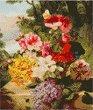 Цветя - Комплект за декориране с камъчета с размери 30 x 40 cm
