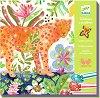 Оцветявай с брокат - Tropico - Творчески комплект за рисуване -