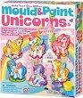 """Направи сама гипсови магнити - Еднорози - Творчески комплект от серията """"Mould & Paint"""" -"""