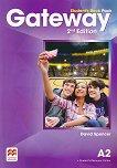 Gateway - Pre-Intermediate (А2): Учебник по английски език + онлайн ресурси Second Edition - учебна тетрадка