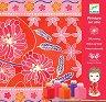 Оцвети сама копринен шал - Japanese Garden - Творчески комплект с бои -