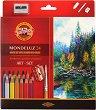 Акварелни цветни моливи - Монделуз - Комплект от 24 цвята -