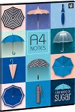 Ученическа тетрадка - Umbrella Формат А4 с широки редове - тетрадка