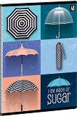 Ученическа тетрадка - Umbrella : Формат А5 с широки редове - 40 листа -