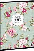 Ученическа тетрадка - Vintage rose : Формат А5 с широки редове - 40 листа -