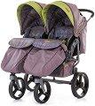 Бебешка количка за близнаци - Twix 2019 - С 4 колела -