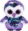 """Бухал -  Moonlight - Плюшена играчка с пайети от серията """"Flippables"""" -"""
