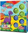 Печати и мастилени тампони - Динозаври
