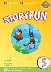 Storyfun - ниво 5: Книга за учителя по английски език : Second Edition - Karen Saxby, Emily Hird -
