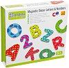 Магнитни букви и цифри - Детски образователен комплект на английски език -