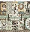 Хартии за скрапбукинг - Пътуване - Комплект от 10 броя