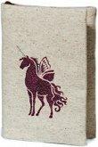 Ръчно изработена текстилна подвързия за книга - Unicorn -