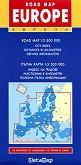 Пътна карта на Европа - многоезична - М 1:3 500 000 -