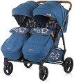 Бебешка количка за близнаци - Passo Doble - С 4 колела -