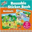 Galt: Животни - книжка със стикери за многократна употреба : Animals - reusable sticker book -