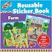 Galt: Ферма - книжка със стикери за многократна употреба : Farm - reusable sticker book -