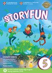 Storyfun - ниво 5: Учебник по английски език : Second Edition - Karen Saxby -