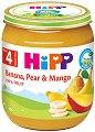 HiPP - Био пюре от банан, круша и манго - Бурканче от 125 g за бебета над 4 месеца -