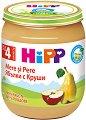 HiPP - Био пюре от ябълки с круши - Бурканче от 125 g за бебета над 4 месеца -
