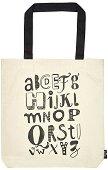 Текстилна чанта за книги - ABC -