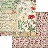 Хартии за скрапбукинг - Макове - Размери 30.5 х 30.5 cm