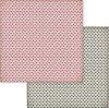 Хартии за скрапбукинг - Сърца - Размери 30.5 х 30.5 cm