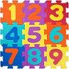 Цифри - Детски образователен пъзел-килим с меки елементи -