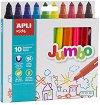 Флумастери - Jumbo - Комплект от 10 цвята -