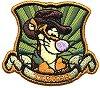 Текстилен самозалепващ се стикер - Тигър с шапка