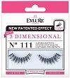 Eylure 3 Dimensional 111 - Мигли от естествен косъм в комплект с лепило -