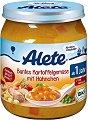 Alete - Био пюре от микс зеленчуци с картофи и пилешко месо - Бурканче от 250 g за бебета над 12 месеца -