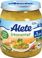Alete - Био пюре от грахова яхния с шунка - Бурканче от 250 g за бебета над 12 месеца -