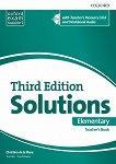 Solutions - Elementary: Книга за учителя по английски език + CD Third Edition - учебник