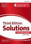 Solutions - Pre-Intermediate: Книга за учителя по английски език + CD Third Edition - учебник