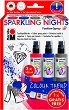 Спрей за текстил - Sparkling Nights - Комплект от 3 цвята и контур -