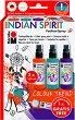 Спрей за текстил - Indian Spirit - Комплект от 3 цвята и контур -
