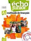 Echo Junior - A1: Учебник по френски език за 8. клас за интензивно обучение + DVD-ROM : 1 edition - J. Girardet, J. Pecheur -