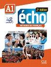 Echo - A1: Учебник по френски език + портфолио + DVD-ROM : 2e edition - J. Girardet, J. Pecheur -