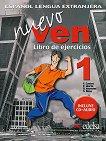 Nuevo Ven - ниво 1 (A1 - A2): Учебна тетрадка по испански език за 9. клас 1 edicion - учебна тетрадка