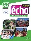 Echo - A2: Учебник по френски език + портфолио + DVD-ROM 2e edition - книга