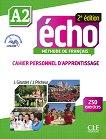 Echo - A2: Учебна тетрадка по френски език + отговори + CD 2e edition - учебник