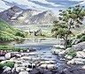 Рисуване по номера - Река - Комплект за картина с размери 22 x 30 cm -
