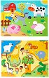 Детски пъзел за баня - Животни - Комплект от 2 броя -