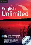 English Unlimited - Upper-Intermediate (B2): Комплект по английски език Combo A - част 1 + 2 DVD-ROM - Alex Tilbury, Leslie Anne Hendra, David Rea, Theresa Clementson, Rob Metcalf, Chris Cavey, Alison Greenwood - книга