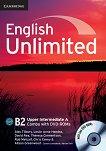 English Unlimited - Upper-Intermediate (B2): Комплект по английски език Combo A - част 1 + 2 DVD-ROM - Alex Tilbury, Leslie Anne Hendra, David Rea, Theresa Clementson, Rob Metcalf, Chris Cavey, Alison Greenwood -