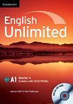 English Unlimited - Starter (A1): Комплект по английски език Combo A - част 1 + 2 DVD-ROM - Adrian Doff, Nick Robinson - помагало
